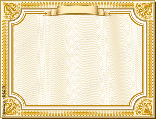 Gold Certificate Background 98859 | SOFTHOUSE