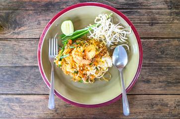 Pad thai. Famous thai dish.