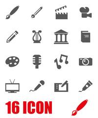 Vector grey art icon set