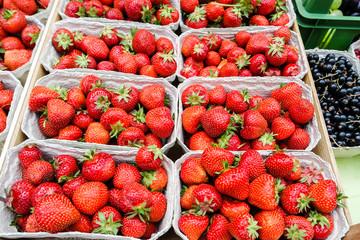 Erdbeeren auf dem Markt