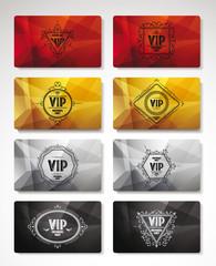 Big set of VIP cards