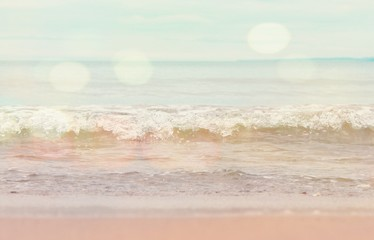 Dreamy beach and surf background