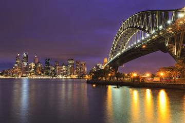 Sydney CBD Bridge 31 mm Sunset