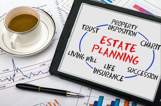 estate planning concept on tablet pc