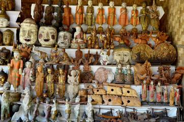 Souvenir shop for sale traveler at Htilominlo Temple in Bagan