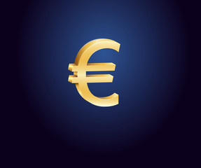 Golden euro sign