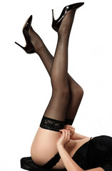 girl clothes black stockings