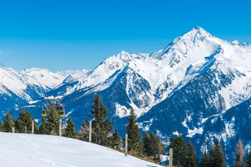 View of Austrian Alps, Mayrhofen ski resort