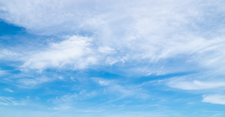 softly clouds in the blue sky background