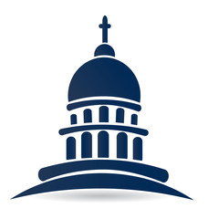 Capitol building church vector logo design