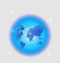 World trade internet web network connection