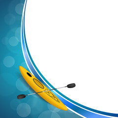 Background abstract blue yellow kayak sport frame illustration vector