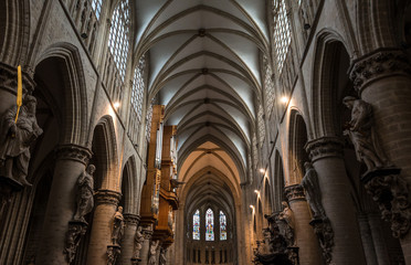 Inside Brussels Cathedral