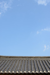 tiled roof of Korean traditional Architecture