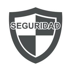 Icono, texto SEGURIDAD en escudo gris