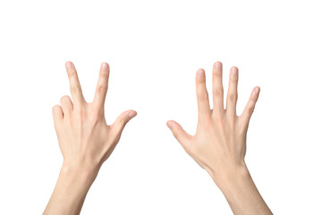 hand sign of number eight