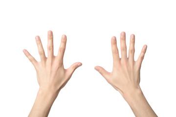 hand sign of number ten