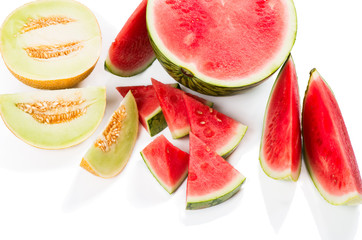 Melon and Seedless Watermelon