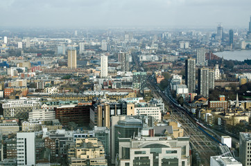 City of London and East End, Aerial View