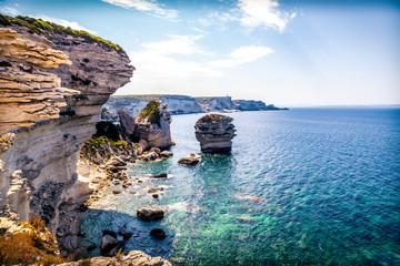 Foto auf AluDibond Kuste Küste von Bonifacio | Korsika
