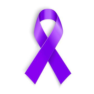 Violet ribbon as symbol of Hodgkin Disease awareness