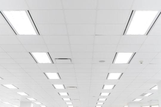 White office ceiling