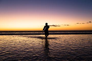 Surfing at Playa Grande Costa Rica