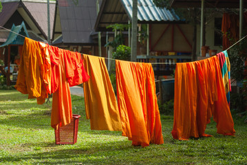 Monk's clothes in Thailand