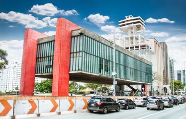 Fototapete -  Sao Paulo Museum of Art  in Sao Paulo, Brazil
