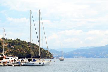 Mittelmeer mit Booten in Portovenere Italien