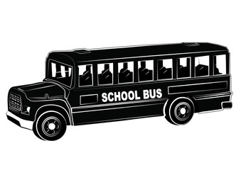 SCHOOL BUS silhouette illustration vector