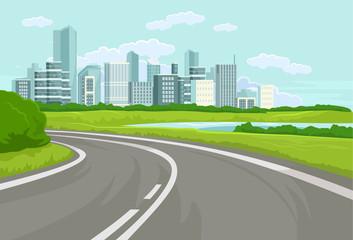 Landscape. Vector flat illustration
