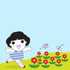 Flowers Make Me Smile illustration set