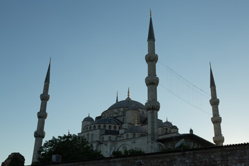 exterior of the Blue Mosque (Sultan Ahmet) in Istanbul, Turkey