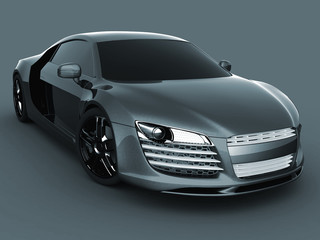 Luxury model sport car. Driving vehicle transportation concept.