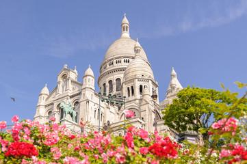 Sacre Coeur Cathedral in Montmartre, Paris, France