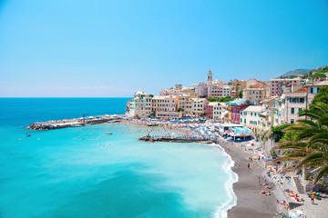 Italy Italian Liguria Genova Bogliasco beach landscape