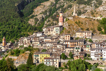 Small town of Tende in France.