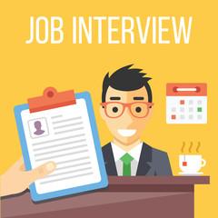 Job interview flat illustration