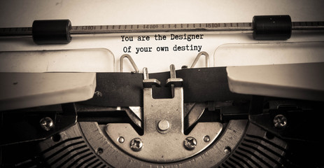 You are the designer of your own destiny motivational quote