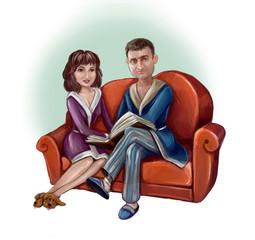 Семейная чета - муж и жена