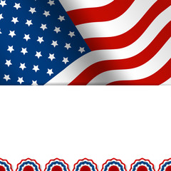 american flag with space for text