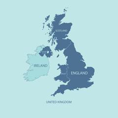 UNITED KINGDOM MAP, UK MAP with borders
