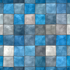 Blue and gray tiled background