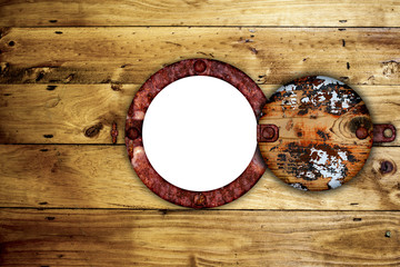 Ships porthole with copy space for your text.