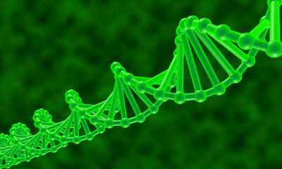It is a dna molecule, abstract background.