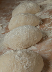 fresh bread dough proving