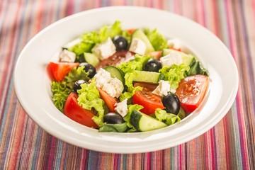 Salad, Greek Salad, Food.