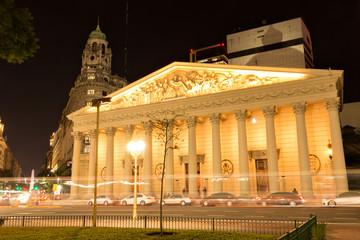 Wall Mural - Kathedrale von Buenos Aires bei Nacht, Argentinien