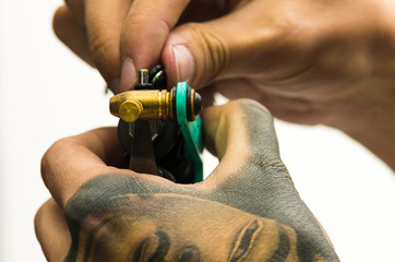 Tattoo machine fixing